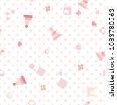 vector seamless baby pattern... | Shutterstock .eps vector #1083780563