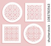 templates for laser cutting ... | Shutterstock .eps vector #1083783563