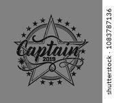 vintage grunge logo with solid... | Shutterstock .eps vector #1083787136