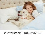 beautiful little girl with... | Shutterstock . vector #1083796136