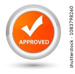 approved  validate icon ...   Shutterstock . vector #1083798260