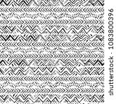 ethnic seamless pattern. hand... | Shutterstock . vector #1083800396