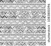 ethnic seamless pattern. hand... | Shutterstock . vector #1083800396