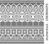 tribal ethnic seamless pattern. ... | Shutterstock .eps vector #1083806093