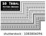 tribal  ethnic vector pattern...   Shutterstock .eps vector #1083806096
