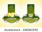 citrus fruits. lemon  green lime | Shutterstock .eps vector #108381950
