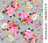 seamless pattern with vintage... | Shutterstock .eps vector #1083822173