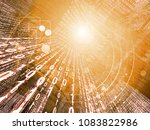 series mainframe in a... | Shutterstock . vector #1083822986
