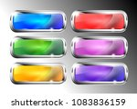 set of rectangular backgrounds...   Shutterstock .eps vector #1083836159