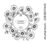 hand drawn wild hay flowers....   Shutterstock .eps vector #1083837644