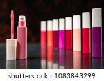 lipstick. fashion colorful... | Shutterstock . vector #1083843299