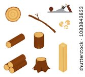 materials for wood industry.... | Shutterstock .eps vector #1083843833