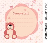color vector baby card with a... | Shutterstock .eps vector #1083846440