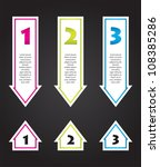 special arrow stickers set with ... | Shutterstock .eps vector #108385286