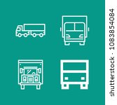 set of 4 lorry outline icons...   Shutterstock .eps vector #1083854084