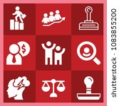 set of 9 business filled icons...   Shutterstock .eps vector #1083855200
