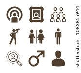 set of 9 man filled icons such... | Shutterstock .eps vector #1083855944