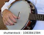banjo musical instrument  man...