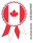 canada award ribbon vector in... | Shutterstock .eps vector #1083864989