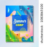 hello summer tropical abstract... | Shutterstock .eps vector #1083865100
