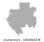 gabon map vector. map dotted... | Shutterstock .eps vector #1083866378