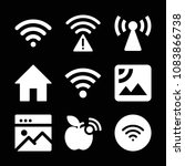 set of 9 internet filled icons... | Shutterstock .eps vector #1083866738