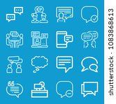 set of 16 chat outline icons...   Shutterstock .eps vector #1083868613