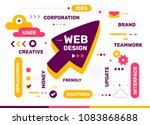 vector creative color... | Shutterstock .eps vector #1083868688