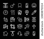 set of 25 tool outline icons... | Shutterstock .eps vector #1083870314