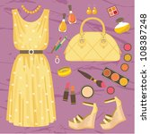 Fashion Set. Vector  No Gradient