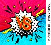 vs   comic retro lettering with ... | Shutterstock . vector #1083872909