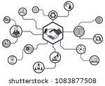 industry 4.0 concept smart...   Shutterstock .eps vector #1083877508