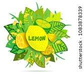 creative vector banner with... | Shutterstock .eps vector #1083878339