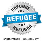 refugee round isolated silver... | Shutterstock .eps vector #1083882194