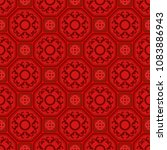 seamless floral tile pattern...   Shutterstock .eps vector #1083886943