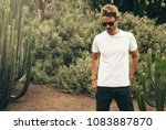 young handsome bearded guy... | Shutterstock . vector #1083887870
