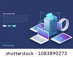 data center. concept of cloud...   Shutterstock .eps vector #1083890273