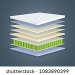 layered orthopedic mattress... | Shutterstock .eps vector #1083890399