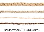 Stock photo rope on a white background 108389093