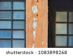 old wall with squares of metal... | Shutterstock . vector #1083898268
