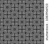 black and white seamless... | Shutterstock . vector #1083906923