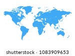 colored vector world map... | Shutterstock .eps vector #1083909653