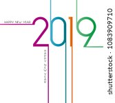 happy new year 2019  background ... | Shutterstock .eps vector #1083909710
