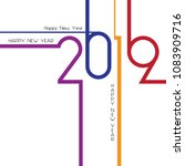 happy new year 2019  background ... | Shutterstock .eps vector #1083909716