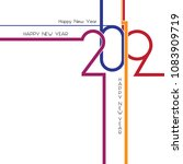 happy new year 2019  background ... | Shutterstock .eps vector #1083909719
