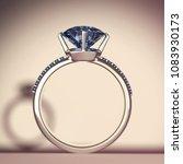 blue sapphire diamond rings... | Shutterstock . vector #1083930173