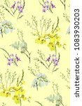 floral seamless pattern with... | Shutterstock .eps vector #1083930203