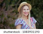 portrait od beautiful woman . | Shutterstock . vector #1083931193