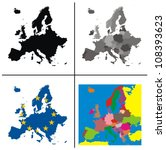 Vector   Europe Maps Collection