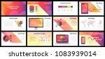business presentation templates.... | Shutterstock .eps vector #1083939014